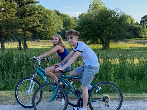 Logan and Jenna Abell are excited to go biking in the warm, Summer weather.